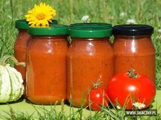 Ketchup z cukinii Ketchup, Zucchini Pickles, Pizza Ingredients, French Fries, Preserves, Salsa, Mason Jars, Sandwiches, Favorite Recipes