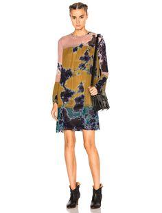 Raquel Allegra Bell Sleeve Vintage Dress in Multi Tie Dye   FWRD