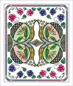 """""""Celtic June"""" is the title of this cross stitch pattern from The Vickery Collection and represents the month of June in the monthly Celtic series."""