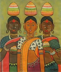 Telangana Festival Famous Paintings Famous Art Works Digital Art Print Modern Arts Printable Wall Art Telangana Festival Famous Paintings Famous Art Works Digital Art Print Modern Arts Printable Wall A Indian Artwork, Indian Art Paintings, Indian Traditional Paintings, Abstract Paintings, Oil Paintings, Modern Indian Art, Indian Folk Art, Kerala Mural Painting, Madhubani Painting