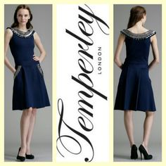 Temperley London 1,295.00 'purdey' navy jersey knit bejeweled dress sz. M/S; RR Price: 490.00  http://resaleriches.mybisi.com/product/temperleynavydress