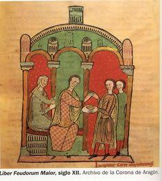 Before 1220.  Liber Fuedorum Maior, Archivo de la Corona de Aragon. Medieval Manuscript, Illuminated Manuscript, Arabesque, 14th Century Clothing, Medieval Pattern, Barcelona, Chevrons, Black Death, Celtic Art