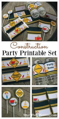 A construction birthday party is an ideal choice for those little ones that love building things...or tearing things apart! These construction party printables will help provide easy party decoration on a budget. DIY party decoration doesn't have to be di