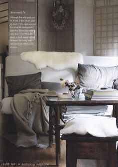 throws and mismatched pillows