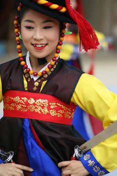 Travel Asian people Korean Suwon Korean dance performance Suwon South Korea