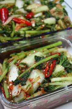 열무김치 맛있게 담기..여름김치 – 레시피 | Daum 요리 K Food, Food Menu, Korean Dishes, Korean Food, Asian Recipes, Healthy Recipes, Asian Snacks, Food Decoration, Food Design