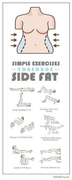 How to Get Rid of Side Fat and Love Handles Fast At Home. Try these Exercises for Side Fat Today and Lose 10 Pounds in 2 weeks. diet workout how to get Fitness Workouts, Sport Fitness, Fitness Diet, At Home Workouts, Health Fitness, Yoga Fitness, Fitness Shirts, Ab Workouts, Best Hiit Workout