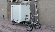 I like the rain cover Electric Cargo Bike, Electric Tricycle, Electric Cars, Motorized Bicycle, Bicycle Race, Bike Cart, Velo Cargo, Powered Bicycle, Bike Trailer