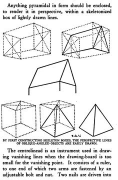 Draw Skeleton Boxes and Perspective Lines of OBlique-Angles Objects are Easily Drawn