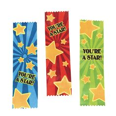"""""""You're A Star!"""" Ribbons - OrientalTrading.com"""