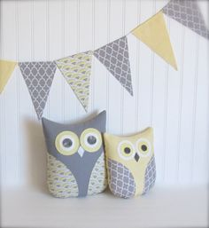 Hey, I found this really awesome Etsy listing at https://www.etsy.com/listing/190361157/owl-pillows-fabric-banner-bunting-yellow