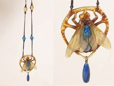 The use of horn by Elizabeth Bonte' adds a translucent quality to her pieces and works well with the naturalistic motifs of the Art Nouveau period. Via Jewelry Nerd. read more here http://jewelrynerd.tumblr.com/post/58238331750/elizabeth-bonte