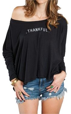 c37b724212 The Linda  thankful  T Shirt Black. Free shipping and guaranteed  authenticity on The