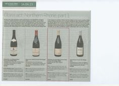 This week the Northern Rhone top spot is taken by our Domaine du Colombier Cuvee Gaby Crozes-Hermitage 2009 - Sunday Times 14 Apr 13.