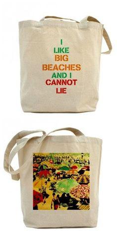 Retro Beach Art | ... Lie / Deco Beach 100% Cotton Canvas Beach Bag - Vintage Art Beach Bag
