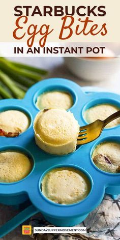 egg meals Just like the popular gruyere and bacon Starbucks egg bites, these sous vide egg bites are rich, velvety, and perfect for an on-the-go breakfast! This is what makes Starbucks egg w Copycat Recipes, Keto Recipes, Easy Recipes, Starbucks Egg White Bites, Starbucks Breakfast, Brunch Recipes, Breakfast Recipes, Supper Recipes, Brunch Ideas