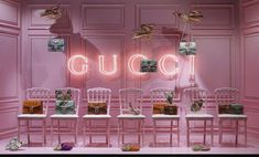 escaparate-rosa-neon - On Contract Commercial Design, Commercial Interiors, Window Display Design, Booth, Displays, Neon, Pink Wallpaper, Pink Aesthetic, Pop Up Stores