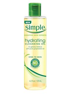 Simple Skincare Hydrating Cleansing Oil, $9.99, available at Target: The antioxidant-rich grapeseed oil-based