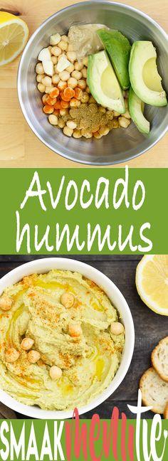 Avocado hummus #recept #recipe #avocado #hummus #borrelhapjes #lunch