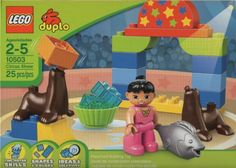 Lego Duplo circus show set 10503. Complete with girl, seal and fish.