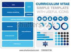 Simple Template Of Curriculum Vitae With Useful Icons