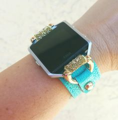 Check out this item in my Etsy shop https://www.etsy.com/listing/499463714/fitbit-blaze-turquoise-leather-cuff
