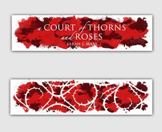 A Court of Thorns and Roses Series Thin Watercolour Bookmarks by behindthepages on Etsy https://www.etsy.com/uk/listing/288233585/a-court-of-thorns-and-roses-series-thin
