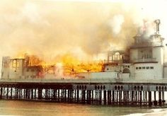 Fire of 1974, Portsmouth, Southsea. The fire occured during the making of the Film 'Tommy', starring The Who, Olvier Reed, Eric Clapton, Elton John. The footage was used in the film!