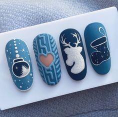 Christmas Gel Nails, Christmas Nail Designs, Holiday Nails, Nail Art Noel, Rose Nail Art, Matte Stiletto Nails, Super Cute Nails, Minimalist Nails, Classy Nails