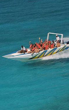#Speedboat ride to #Saona island from La Romana in the Dominican Republic.