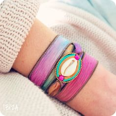 Isla Ibiza Rainbow Silk Wrap Bracelet ♡ available at www.ibizamusthaves.nl