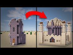 Minecraft: How To Transform A Desert Village Church (Mosque) - YouTube