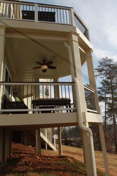 Deck and covered porch remodel. See more before and after pictures Small Basement Bedroom, Small Basement Remodel, Basement Remodeling, Basement Ideas, Wrap Around Deck, Relaxing Places, Attic Renovation, Condo Living, Before And After Pictures