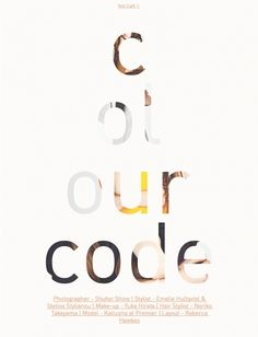 Colour Code | Volt Café | by Volt Magazine - I like the image within the text