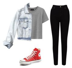 namjoon by elisa-schembre on Polyvore featuring polyvore, mode, style, Hollister Co., EAST, Converse, fashion and clothing