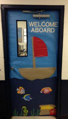 My beach theme classroom: Welcome Aboard!