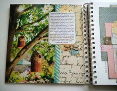 """true religion"" art journal page"