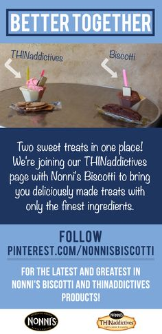 We know you love sweet treats as much as us! We're moving to pinterest.com/nonnisbiscotti & don't want you to miss out!
