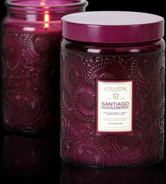 Discover the Voluspa Japonica Large Glass Candle - Santiago Huckleberry at Amara I love the glass jar that this candle is in Glass Candle, Candle Jars, Mason Jars, Candle Holders, Large Glass Jars, Large Candles, Voluspa Candles, Scented Candles, Scented Sachets