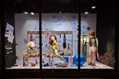 Harvey Nichols   School of Fashion windows, London   UK