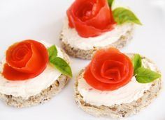 Rose Garden TeaSandwich - I often think pastries and tarts are beautiful, but not generally sandwiches.  As long as savory sandwiches are an integral part of a Victorian tea party, they ought to be beautiful too, don't you think?  And making these roses seems so easy!