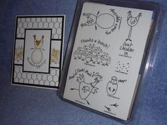 stampin up BEST OF CLUCK-cute chickens-eggs-BNIP-lot + card #StampinUp