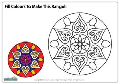 Diwali Craft - Rangoli coloring pages (Google image search)
