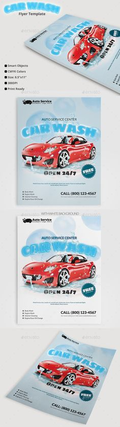 Car Wash Poster 05 Car wash, Template and Psd templates - auto detailing flyer template
