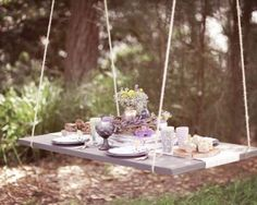 Hanging garden table