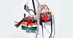 Pelle e seta per i secchieli multicolor di Sara Battaglia per Salvatore Ferragamo (fonte ferragamo tumblr)