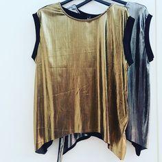 #blusa effetto # metallizzato #argento  #oro #valeria #abbigliamento