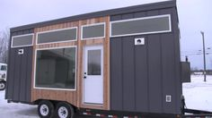 Anna White's Open Concept Modern Tiny House with Elevator Bed
