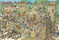 Jan van Haasteren. Castle conflict