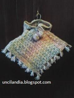 Uncilandia: Poncho all'uncinetto per bambina......Poncho croch...